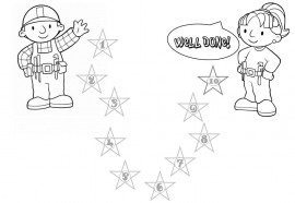 Bob the Builder coloring chart