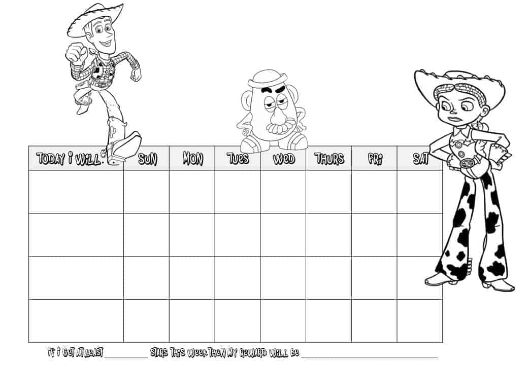 toystory reward chart colouring pages (page 2)