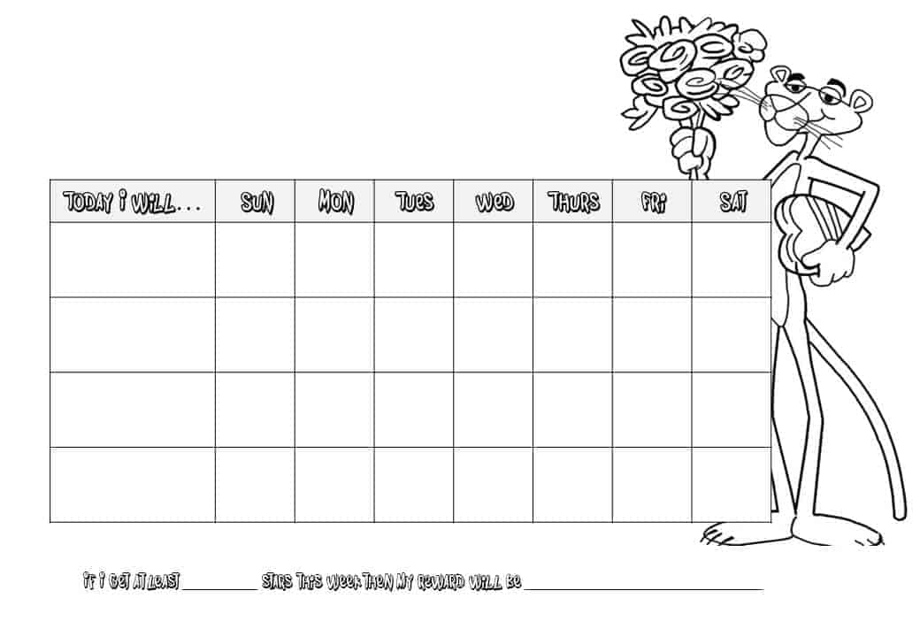 star chart for kids template - star chart printable new calendar template site
