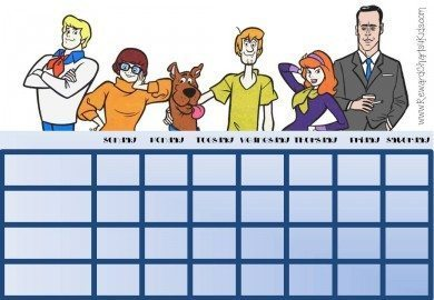 Behavior Charts with Scooby Doo characters