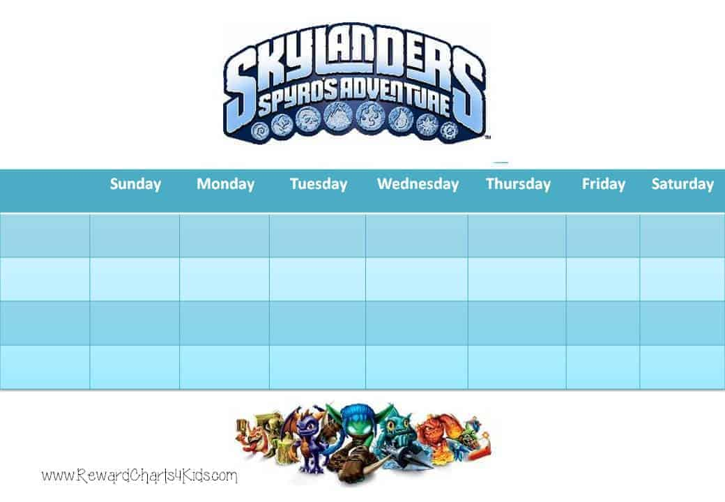 Skylanders Behavior Charts and Certificates