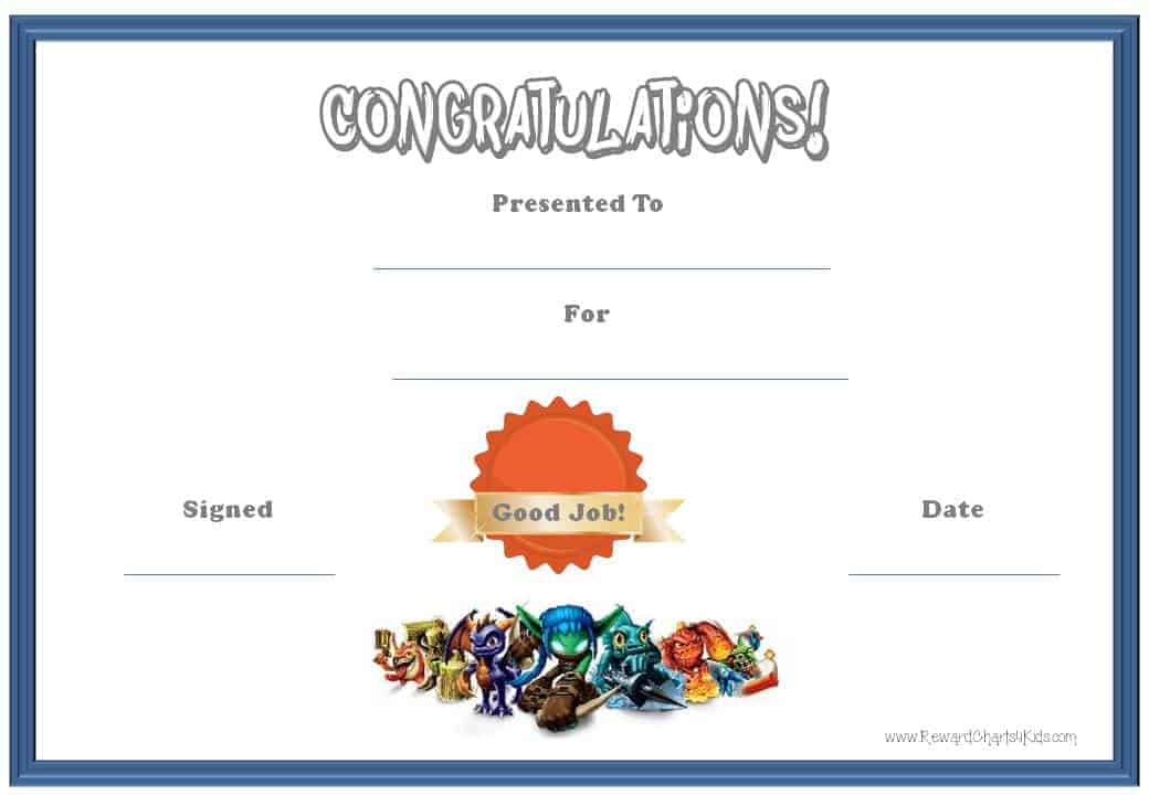 ... fan? Try using these free printable award certificate templates