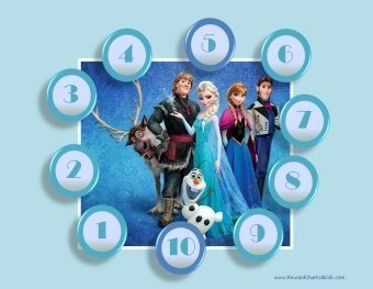 Frozen sticker chart