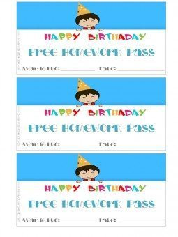 birthday card for teachers to give to students