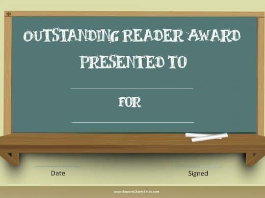 Reading awards for student