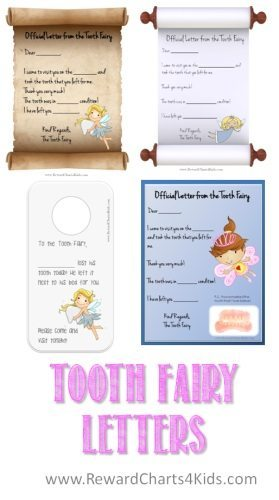 Tooth fairy letters