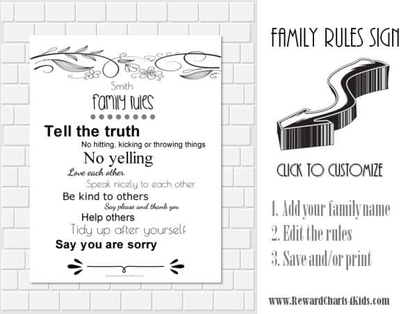 Pin house rules template on pinterest for House rules chart template