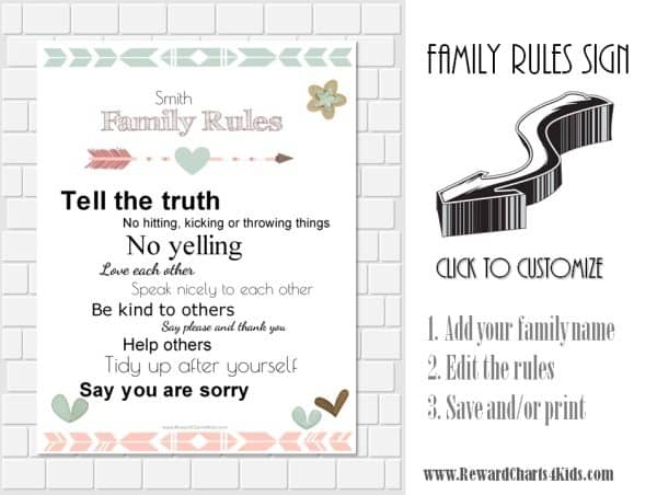 House rules for kids