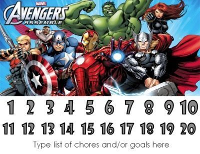 Marvel Avengers behavior chart