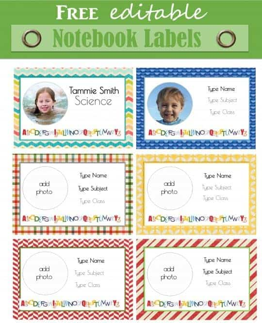 Free Personalized Kids School Labels Customize Online