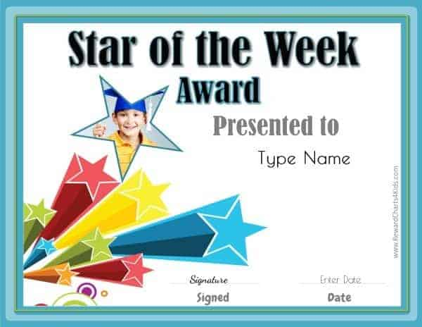 Student of the month for Star of the week poster template