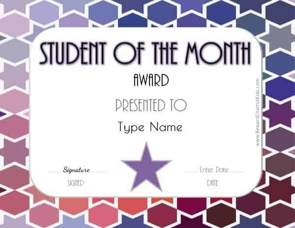 Student of the Month ideas
