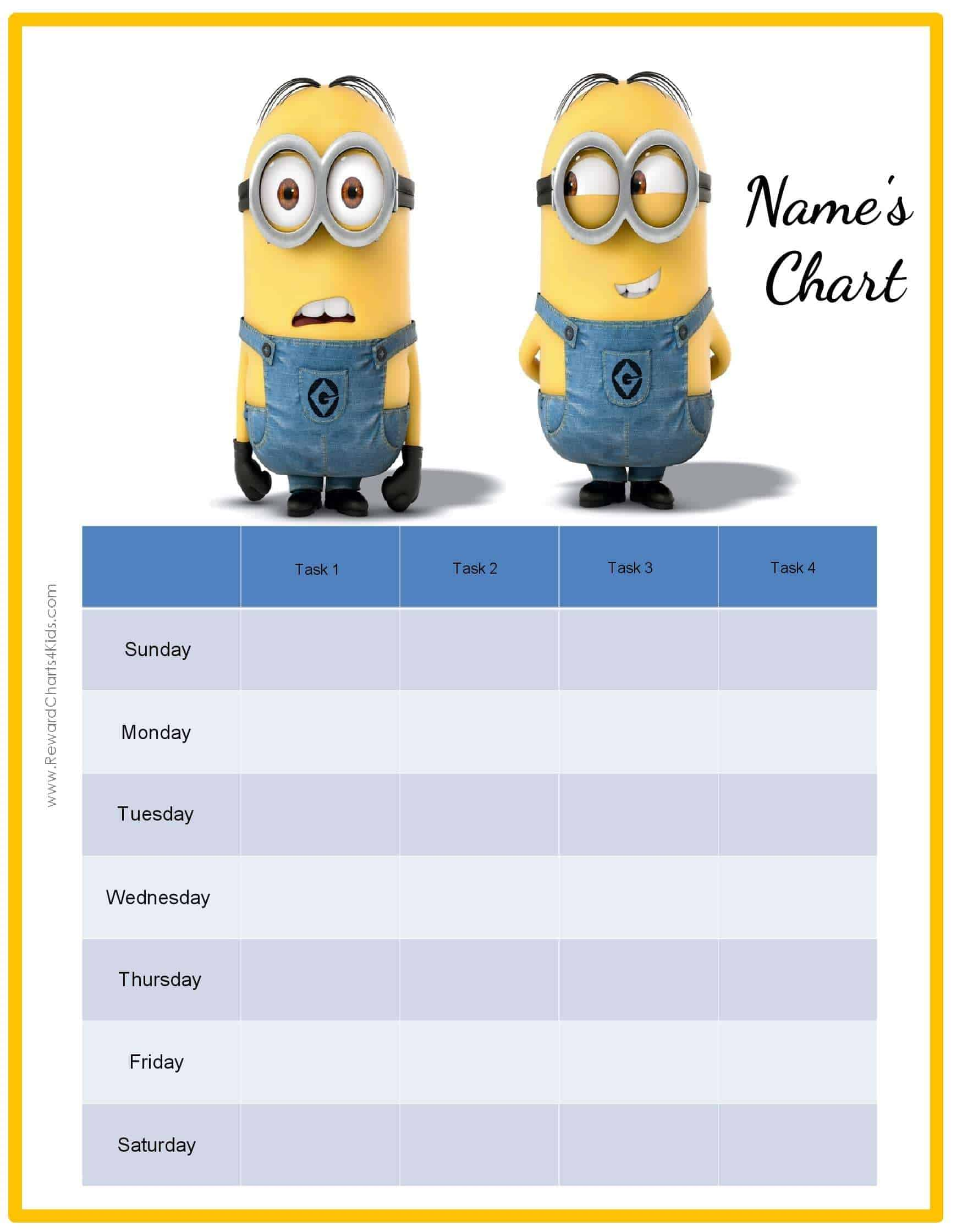 behavior charts the minions behavior chart customize