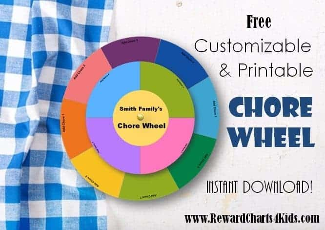 chore wheel is a great way to divide up chores particularly when ...