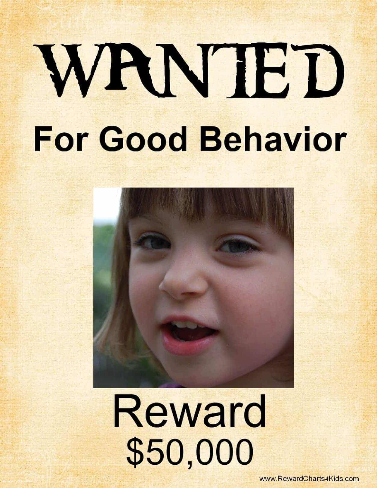Free Printable Wanted Poster Template – Reward Sign Template