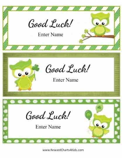 good luck cards for kids