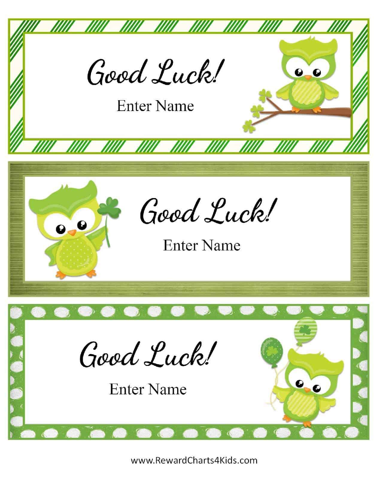 It's just a graphic of Sassy Printable Good Luck Cards
