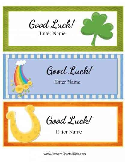good luck gift tags