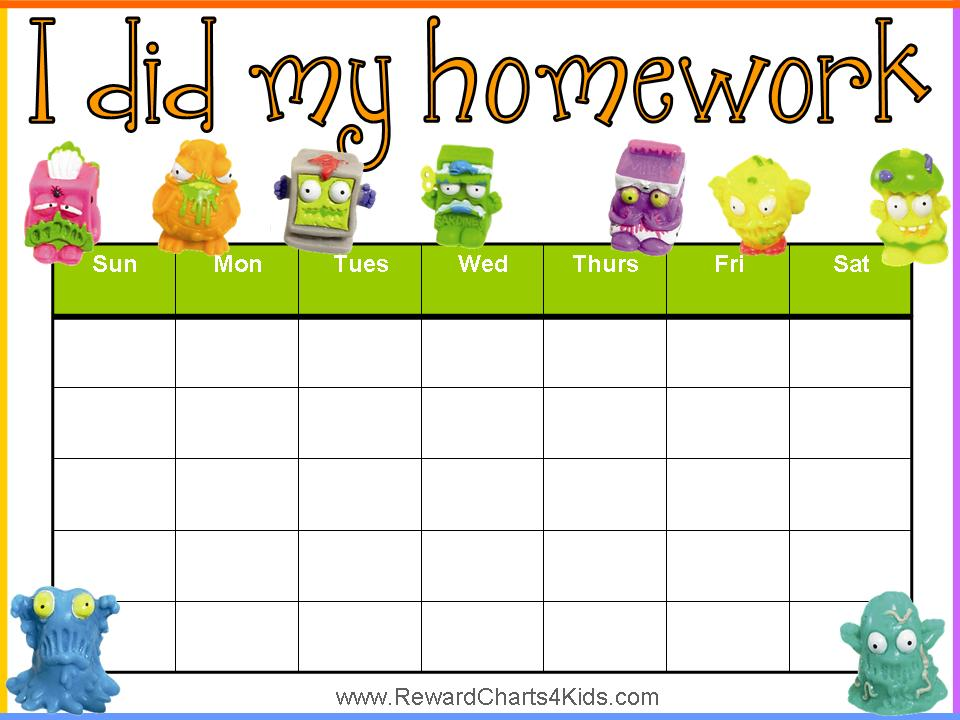 Homework Pass from Activities for Kids