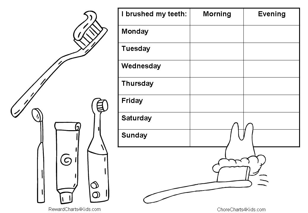 Coloring pages of teeth brushing charts ~ tooth brushing reward chart   Great Ideas   Pinterest ...