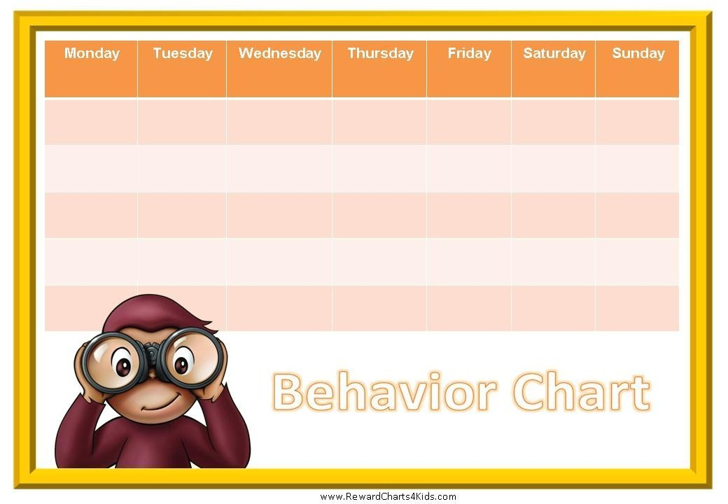 curious george charts