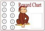 Reward Chart with a picture of Curious George and space for your child's photo