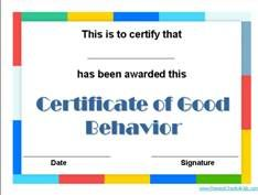 Good Behavior Reward