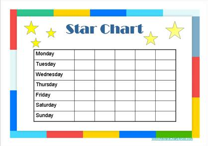 Star Charts for Kids – Kids Behavior Chart Template