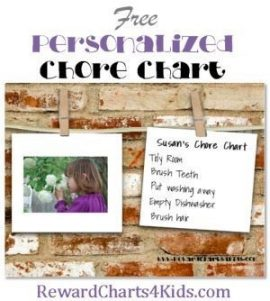 Make your own free chore chart online