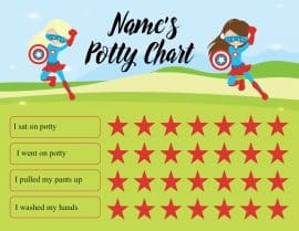 potty training chart