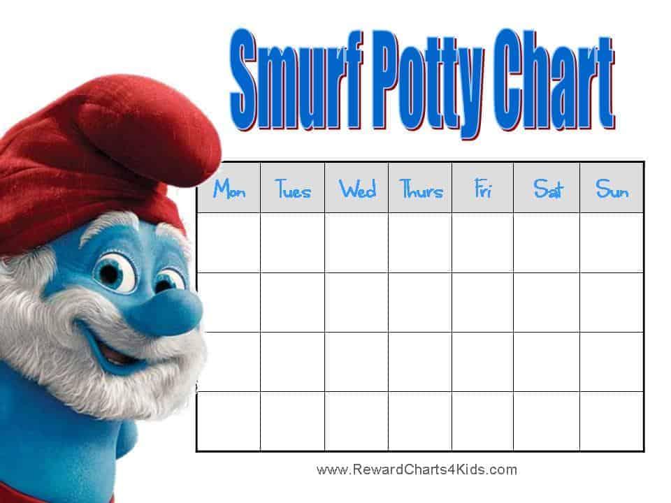 free potty chart printables