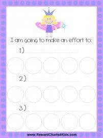 fairy incentive chart