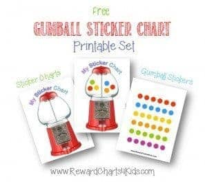Printable sticker chart
