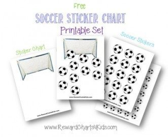 soccer printable sticker chart set