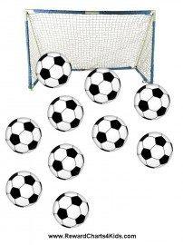 soccer goal with soccer balls
