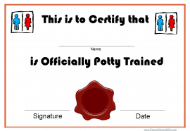 Potty training award