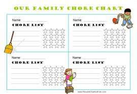 Printable chore charts for multiple children