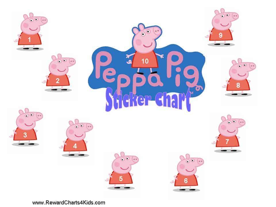 Peppa Pig Reward Charts