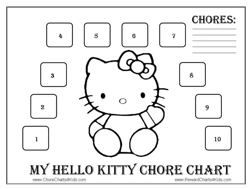 Hello Kitty Reward Chart