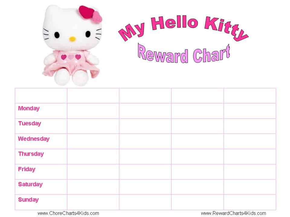 Reward Chart  Blank Reward Chart