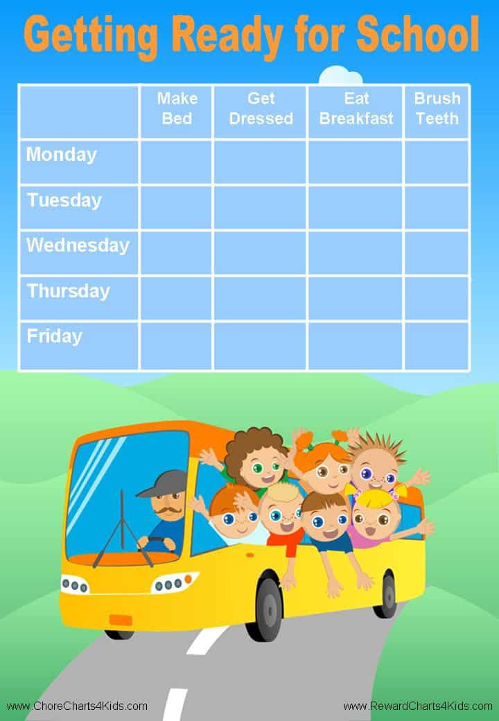 Free Custom Morning Routine Chart | Customizable and Printable