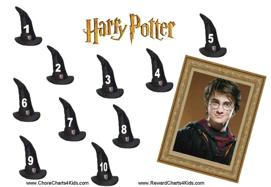 harry potter reward chart