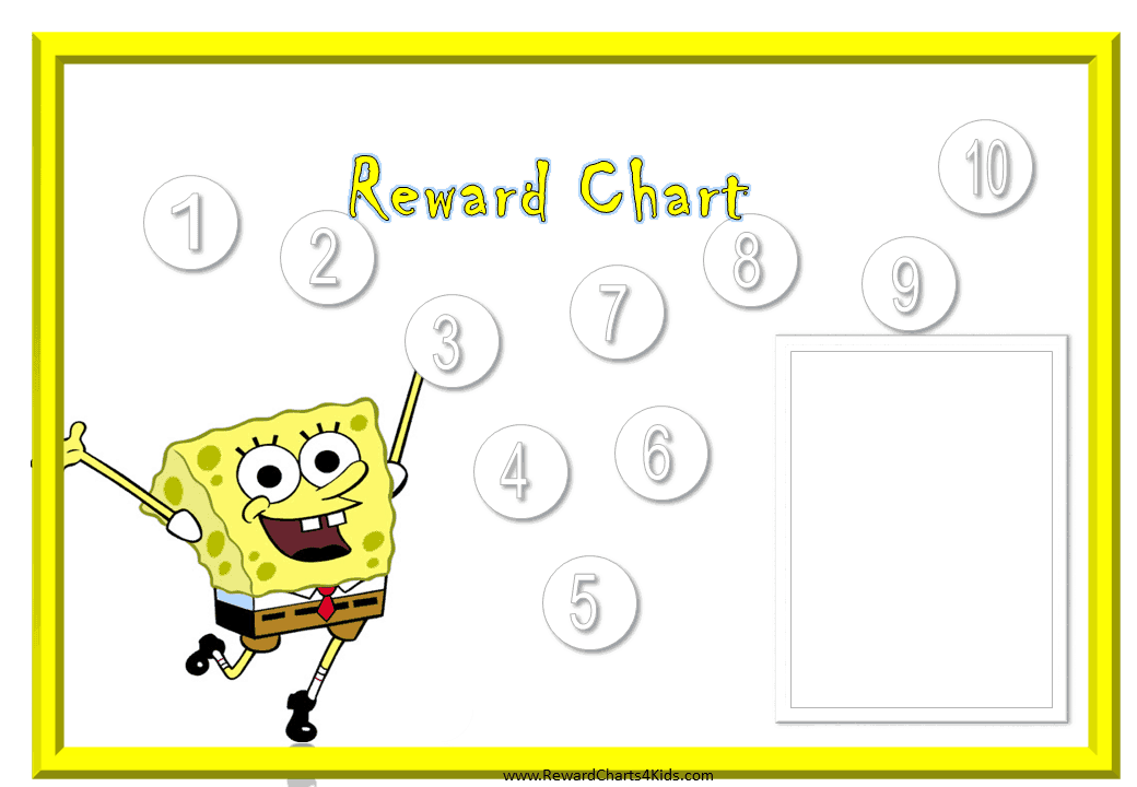 This is a picture of Zany Star Chart Template