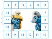 Printable Smurf Chart