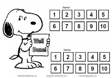 Snoopy reward chart
