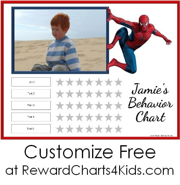Spiderman printable - the title can be customize so it can be used for any purpose