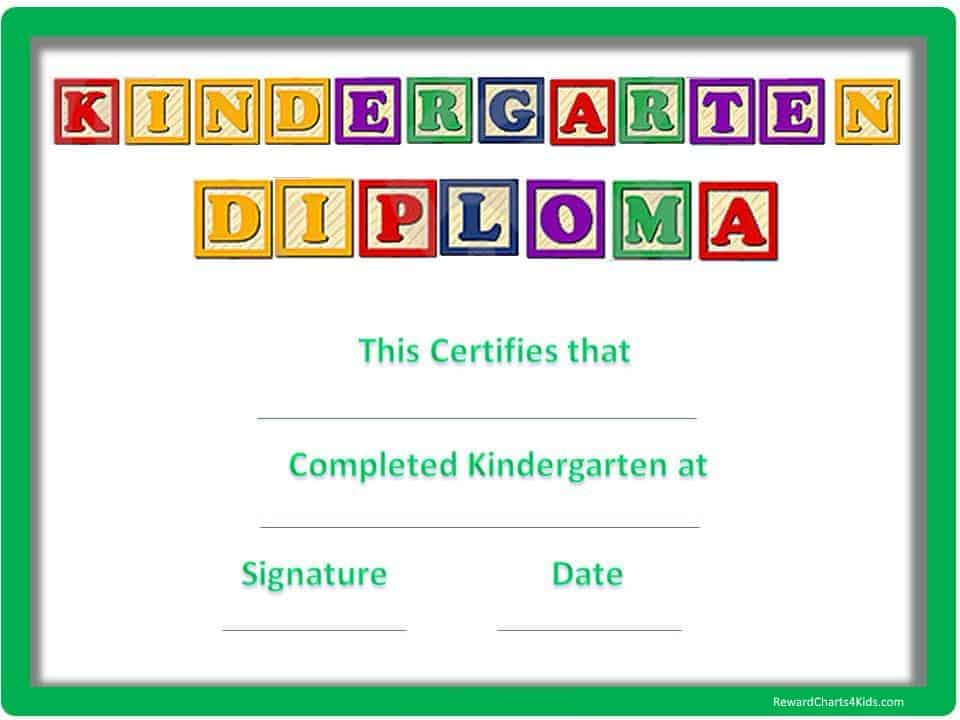 Kindergarten certificates yelopaper Image collections