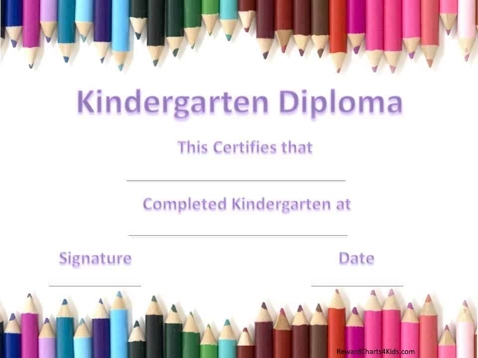 Reward Charts For Kids  Graduation Certificate Template Free