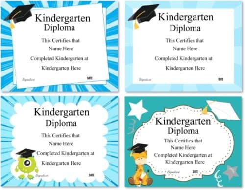 Kindergarten graduation certificate templates