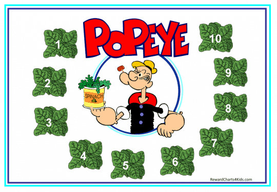 Popeye reward chart